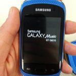 Samsung presenta a su Smartphone Galaxy Music