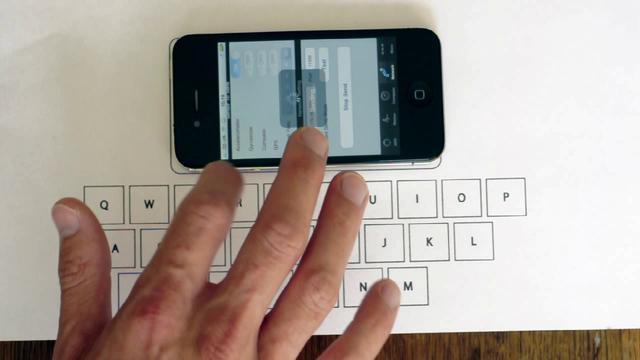 Desarrollan teclado para tablets impreso en una hoja de papel