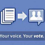 Facebook somete a votación, deberes y derechos de usuarios