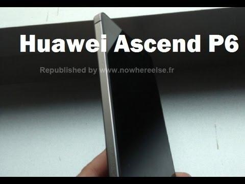 Ascend P6 el Smartphone más delgado del mundo